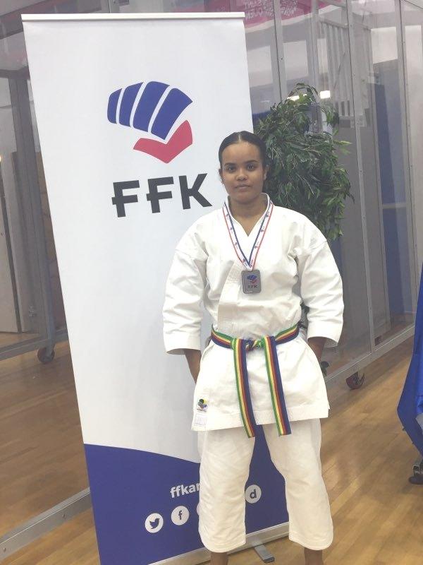 Anjaly et sa médaille d'Argent